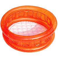 """Разноцветный детский надувной бассейн """"Краски"""" с мягким дном ,оранжевый"""