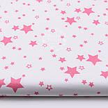 "Лоскут ткани ""Мини галактика"" тёмно-розовая на белом № 1456, размер 43*80 см, фото 2"