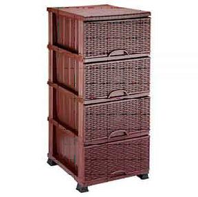 Комод п/є 375*455*900 плетенка Elif коричневый