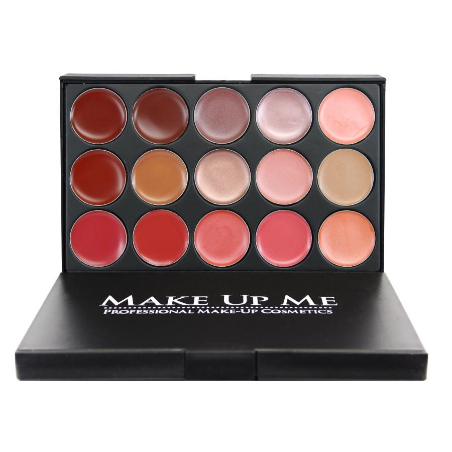 Палитра помад для губ 15 цветов Make Up Me L15-2