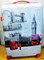Чемодан пластик 360* London большой TW009-3