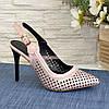 Туфли женские кожаные на шпильке. цвет розовый, фото 2