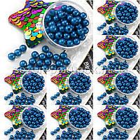 (500 грамм) ОПТ Жемчуг бусины пластик Ø6мм (прим. 4500 шт) Цвет - Синий
