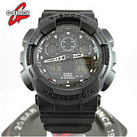 Годинник Casio G-Shock GA-100 All Black. Репліка ТОП якості!, фото 1