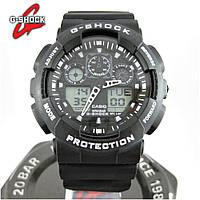Годинник Casio G-Shock ga-100 Black/White. Репліка ТОП якості!