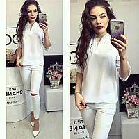 Блузка женская, модель 749, цвет белый