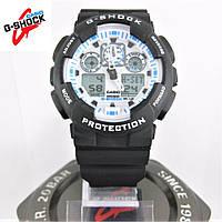 Часы Casio G-Shock GA-100 black/white. Реплика ТОП качества!, фото 1