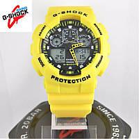 Часы Casio G-Shock GA-100 yellow/black. Реплика ТОП качества!