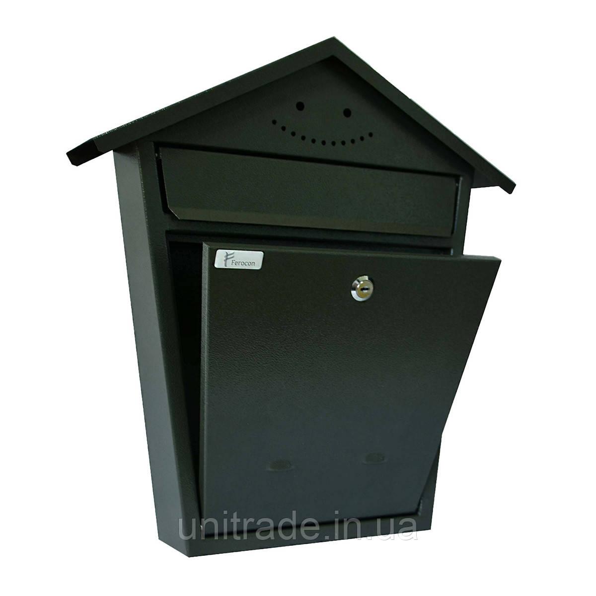 Ящик почтовый РВ-06 Ferocon, 43x47x7 см. серый