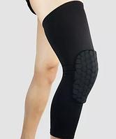 """Защитный наколенник для баскетбола с мягкой подушкой на колене """"Soft protection"""" в черном цвете (1 шт)"""