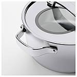 IKEA SENSUELL Кастрюля с крышкой, нержавеющая сталь, серый  (103.245.46), фото 5