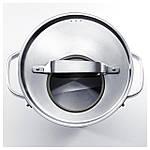 IKEA SENSUELL Кастрюля с крышкой, нержавеющая сталь, серый  (903.245.47), фото 3
