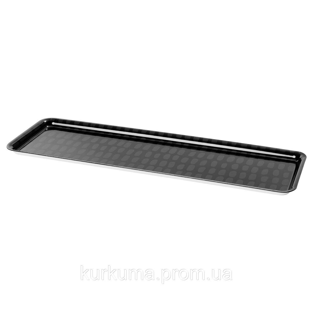 IKEA SAMMANHANG Поднос, черный, серый  (304.176.29)