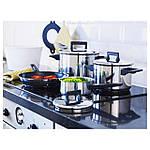 IKEA SNITSIG Кастрюля с крышкой, нержавеющая сталь  (401.297.27), фото 4