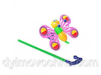 "Детская игрушка-каталка ""Бабочка"" 3802-3 на палке"