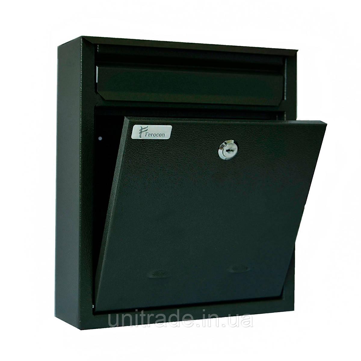 Ящик почтовый РВ-03 Ferocon, 26x38x7 см. серый