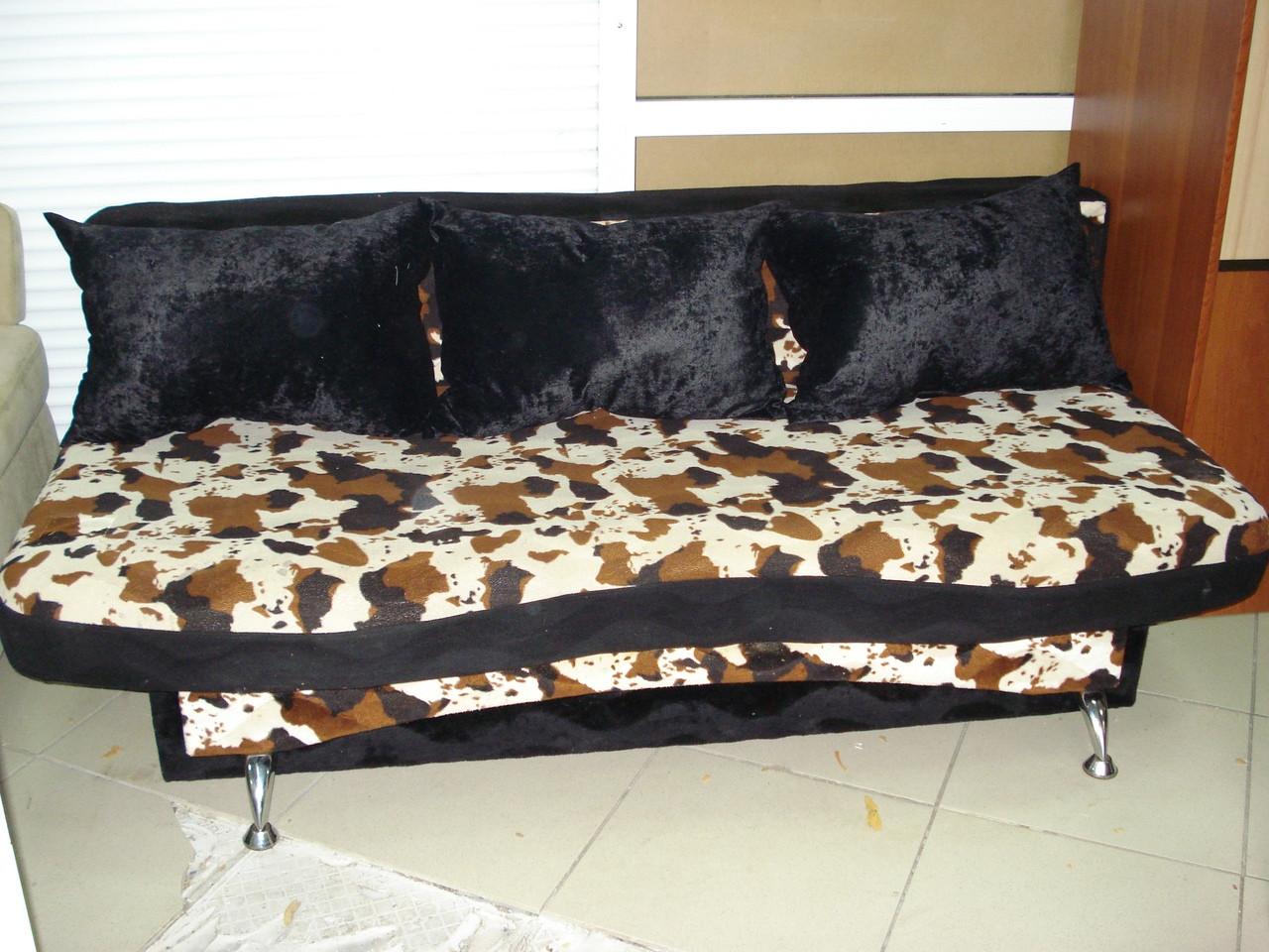 Диван-еврокнижка б/у, диван с принтом в комнату б/у, фото 1