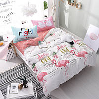 Комплект постельного белья Милый фламинго (полуторный) хлопок