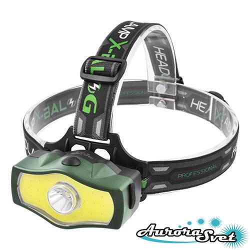 Фонарик светодиодный на лоб T6+COB.  LED фонарик. Светодиодный фонарь.