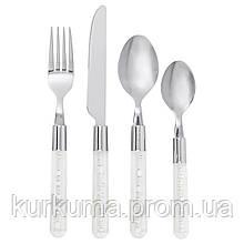 IKEA BUBBLOR Набор столовых приборов, 24 шт., прозрачный  (103.518.51)