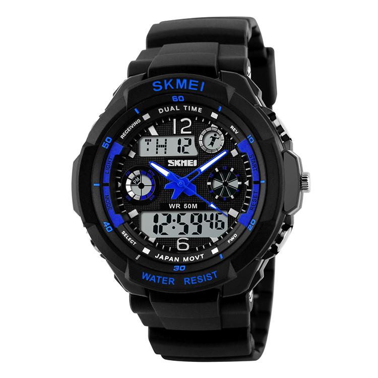 Skmei 0931 s-shock  синие спортивные детские часы