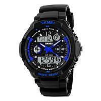 Skmei 0931 s-shock  синие спортивные детские часы, фото 1