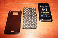 Samsung 9850 ТВ, Wi-Fi, Duos, 2 sim сим карты, 4 дюймовый КОРПУС МЕТАЛЛ +2 чехла в подарок!