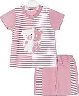 Летний комплект для девочки (футболка+шорты) 68,74,80 размер