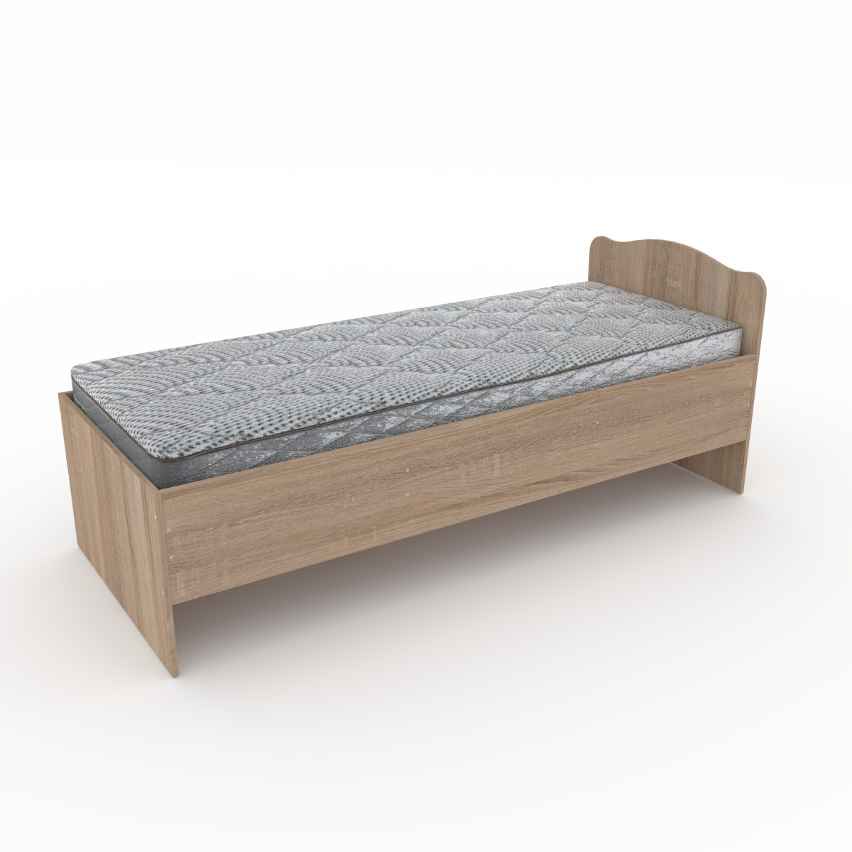 Кровать 80 дуб сонома Компанит (85х204х80 см)