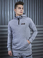 Худи мужское кофта BeZet Original grey '19