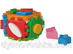 """Игрушка куб-сортер Умный малыш """"Гексагон 2"""" 1998 Технок"""