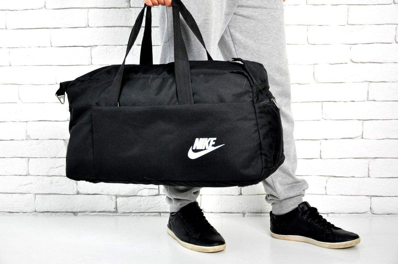 fc32a2d3ff08 Спортивная, дорожная сумка найк, nike с плечевым ремнем. Черная - Интернет  магазин Vendishop