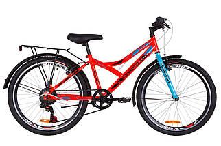 """Городской велосипед с багажником  24"""" Discovery FLINT MC 2020 (бело-голубой с розовым), фото 3"""