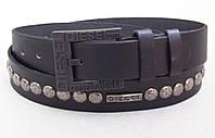 Мужской кожаный ремень Diesel для джинс, фото 1