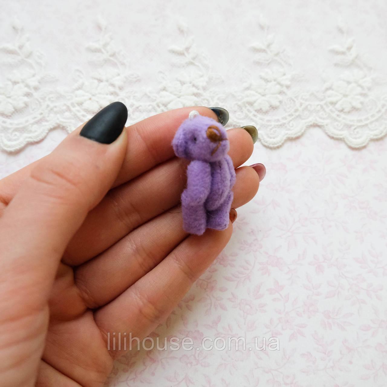 Мягкая Игрушка Медвежонок Мини 3.5 см ФИОЛЕТОВЫЙ