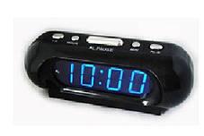 Часы сетевые 716-5 синие , фото 2