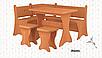 Кухонный уголок Маркиз со столом и табуретами Пехотин, фото 5
