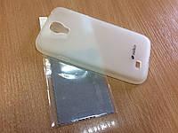 Оригинальный силиконовый чехол бампер для Samsung Galaxy S4/i9500 + пленка
