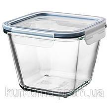 IKEA IKEA365+ Контейнер для продуктов с крышкой, квадратным стеклом, пластиковым стеклом  (592.691.19)