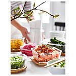 IKEA IKEA365+ Контейнер для продуктов с крышкой, квадратным стеклом, бамбуковым стеклом  (192.691.16), фото 2