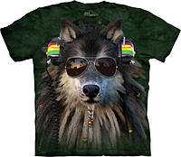 3D футболка The Mountain -  Rasta Wolf