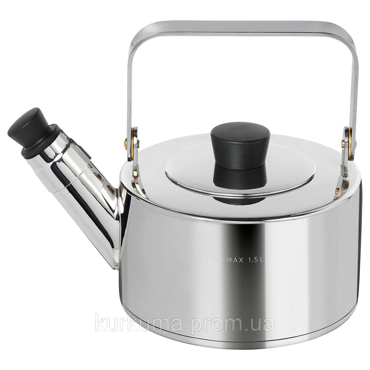 IKEA METALLISK Чайник, нержавеющая сталь  (403.602.22)