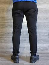 Штаны мужские черные манжет Nike реплика, фото 3