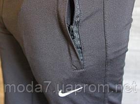 Штаны мужские черные манжет Nike реплика, фото 2