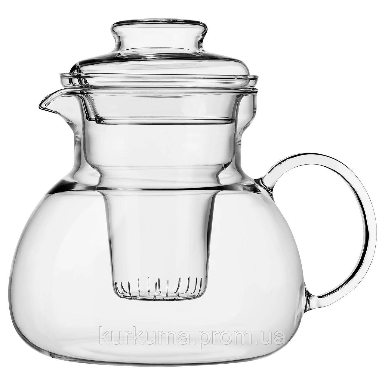 IKEA LERGODS Чайник, прозрачное стекло  (404.161.96)