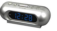Часы сетевые 716-5 синие , фото 3