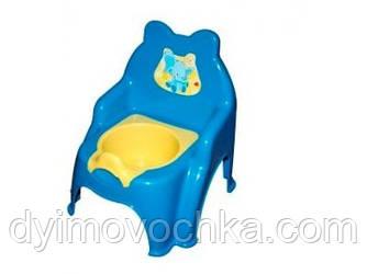 Детский горшок №2 013317 - 1 Фламинго-Тойс, голубой