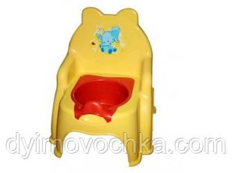 Детский горшок №2 013317 - 1 Фламинго-Тойс, желтый