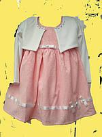 Стильное платьедля девочки  с белым болеро 2-5 лет, фото 1
