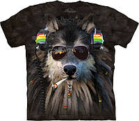 3D футболка The Mountain -  Smoking Rasta Wolf
